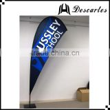 High quality custom logo advertising teardrop flags, promotional flying flags for sale