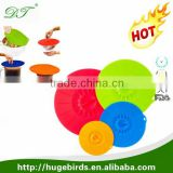 Hot Sell Food Standard Silicone Pot Cover / Silicone Pot lid / silicone pot cover spill stopper lid