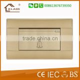 Wenzhou Switch Factory Hot Selling Push Button Electrical Bell Switch, Door Bell Wall Switch