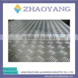 Chinese Manufacturer supply Aluminum 5 checkered sheet plate 1050 1060 1100 1200 5052 O H32 tread plate 5 bars