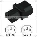 AC adapter IEC C14 to C13 power adapter