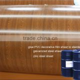 glue PVC decorative film to steel sheet