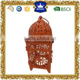 Orange decoration Moroccan metal lantern for garden