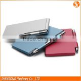 Christmas gift mini notepad with pen, small notepad with pen, metal notepad with pen