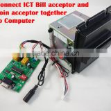 ICT bill acceptor Pulse output coin acceptor interface for kiosk machine