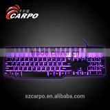 3 Multi-color Illuminated LED Backlit USB Wired Professional Multimedia Gaming Keyboard for PC Laptop