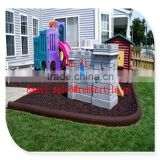garden rubber protection border,elastic eco-friendly recycled crumb rubber border edging tile