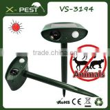 New X-pest bell howell product VS-3194 outdoor defender mega sonic electronic solar animal guard bird cat owl repeller