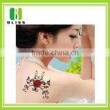 Non-toxic fashion custom metallic body sticker water transfer colorful body decorative bulk temporary tattoo