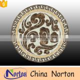 Norton yellow marble mixed brown marble waterjet square floor marble medallion patterns NTMS-MM004L