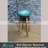 65cm H Metal w/Wood Bar Stool