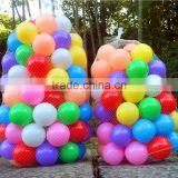 cheap multi-colored PE plastic pit ball play balls for Pond Playground,Swimming Pool children toy
