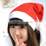 2016 Cheap factory price Christmas Party Santa red Hat And White Cap for Christmas decoration