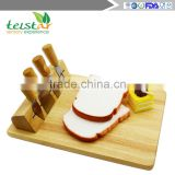 Manufacturer for bamboo & wooden products rubber wood cheese board with 4knives set cheese knife set cheese board set