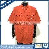 Chinese manufacturer professional supplier short sleeve men's fishing shirt with buttons up