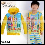 2015 new fashion girls hoodies kids cartoon custom hoodies child pullover hoodies