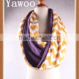 2015 wholesale promotion cable knit yellow scarf winter womens chevron cotton scarf cute cheap kids scarf