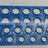 Wholesale US 2~13# Standard Plastic Ring Finger Sizer/ Ring Gauge Sheets Ring Measuring Plate Gauging Board