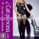 Adult gater belt seamed sexy bodystocking hot sale