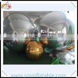 Giant disco inflatable mirror ball, inflatable sliver/gold mirror decorative, reflect sphere balloon for stage