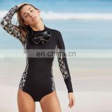 2017 one piece women swim surf rash guard