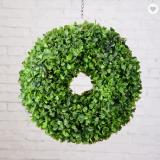 china wholesale hot selling round artificial grass wreath for decoration