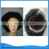Kinky Afro curls remy hair full lace wig for women