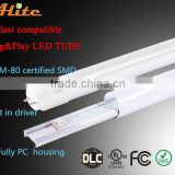 Hot Top Environment friendly LED Light epistar SMD2835 CE,RoHS,FCC,EMC,TUV,UL,CUL,DLC tube8 xxx animal video led tube 2ft 3ft