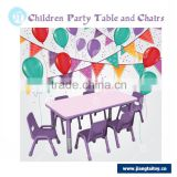 Height adjustableJT-2315 preschool kindergarten six seats cheap kids plastic party study table and chair set