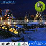double hole christmas lights projector outdoor red and green dynamic meteor shower laser light