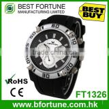 FT1326 China factory 24 hour day function 3 atm silicone analog watch