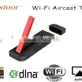 Wi-Fi air caster_T516, supported Apple Android 4.2 and upper screen mirroring, work for phone/pad/laptop.