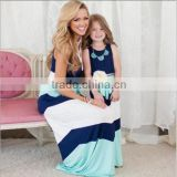 mommy and me maxi dress Stripe fashion women dress apparel long maix dress baby dress clothing