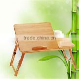 Adjustable and Multi-function Bamboo Laptop Table