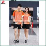 2015 Latest badminton wear Wholesale High Quality badminton shirt For Men Women Customize