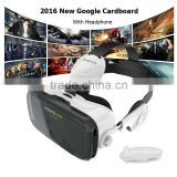 2016 New Google Cardboard bobovr z4 Virtual Reality Immersive 3D Glasses bobo vr z3 Upgraded With Headphone + Bluetooth Gamepad