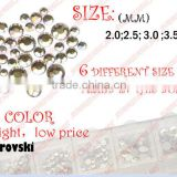 1440pcs 2-5mm SS4 Crystal non hot fix Flatback Rhinestone Nail Art Decoration glitter beads Wholesale 19818#006