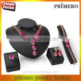 New Exaggerated Choker Necklace Earrings Bracelet Rings 4Pcs Sets African Collar Jewelry Set
