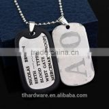 Anime Series Gangsta Necklace Nicolas Brown Twilight A/O AO Logo Cosplay Mercenary Dog Tag Two Pendant Necklaces