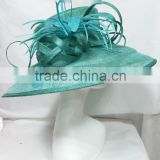 Melbourne cup Races Derby Kentucky Church Wedding Party big brim sinamay hat wholesale                                                                         Quality Choice