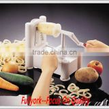 Multi Functional Hurry Slicer Hand Vegetable Chopper Slicer Manual Twista Chopper Tri-blade Plastic Spiral Vegetable Slicer