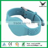 ABS Housings with Fabric Adjustable Strap Length RFID Waterproof Wristband with 13.56MHz Frequency
