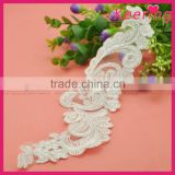 nice wedding white lace piece sew on shoes WLSD-023