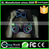 Ladies sexy panty and bra sets in led luminous bra and short set light up stylish bra and panty set