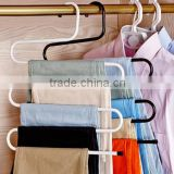 S-type Metal Pants Hangers,Closet Storage for Jeans Trousers Space Saver Storage Rack                                                                         Quality Choice