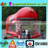 Inflatable batting cage with cap, commercial inflatable football game                                                                         Quality Choice