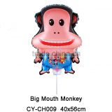 2016Hot sale lovely Monkey shaped helium balloon cartoon foil balloon for party decoration foil balloon