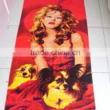 hot sale soft microfiber printed photo sex animal and women beach towel                                                                                         Most Popular