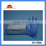 Blue nonsterile disposable powder free nitrile gloves wholesale for food/medical/examination