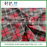 Super Soft Anti-static Plaid Print Polar Fleece Fabric for Blanket
